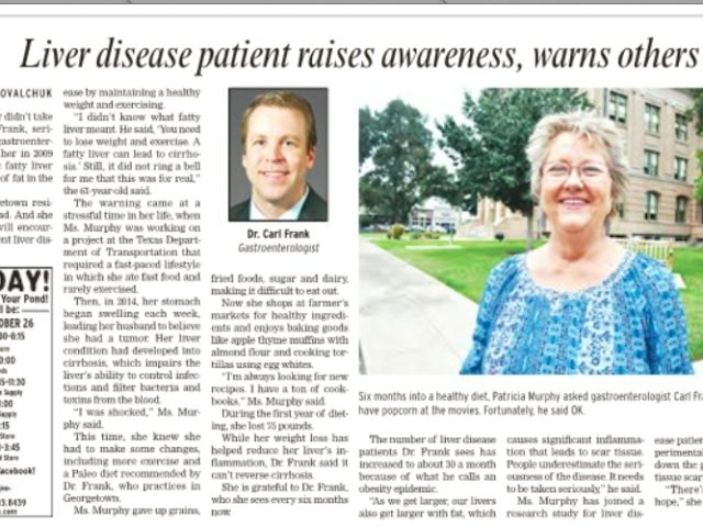 Dr. Carl Frank and Liver Disease Patient Raise Awareness and Warn Others