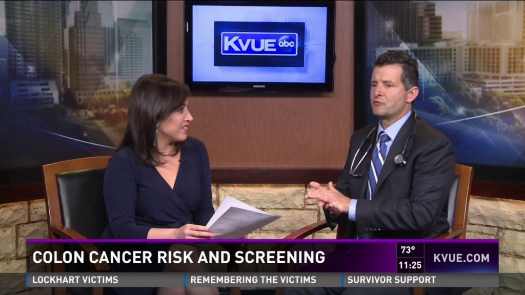 Dr. Kenneth Ellis with Austin Gastro Discussing Colon Cancer on KVUE on 3.3.17